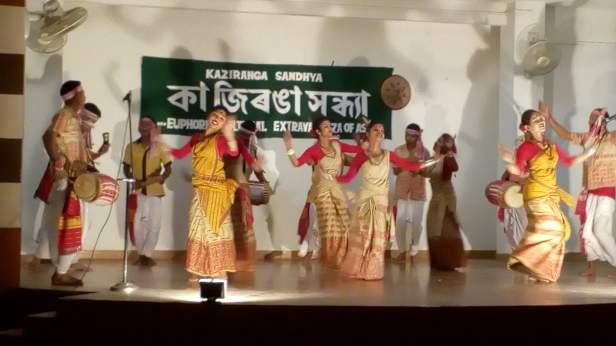 Bihu dance during Kaziranga Sandhya