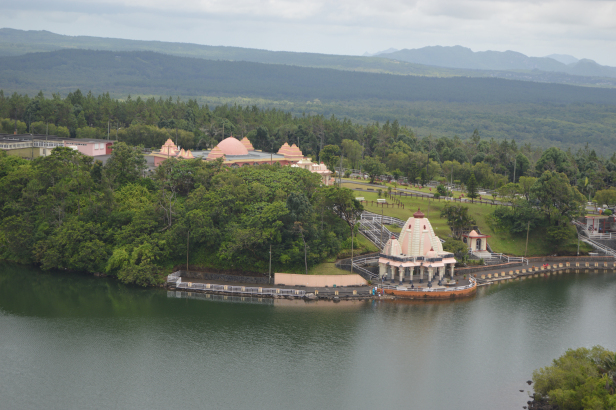 View from the top of Ganga Talao, Grand Bassin, Mauritius